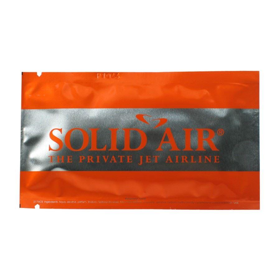 Promotional wet wipes - silver aluminium sachets